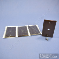 """4 Leviton Brown Phone Cable Wallplates Telephone Cover Plates .406"""" Hole 85013"""