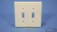 Leviton Light Almond MIDWAY 2-Gang Switch Cover Wall Plate Switchplate 80509-T