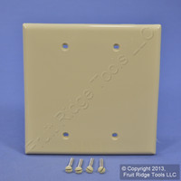 New Leviton Ivory Midway 2-Gang Box Mount Blank Wallplate Plastic Cover PJ23-I