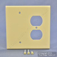 Leviton MIDWAY Ivory RESIDENTIAL Blank Receptacle Combo Cover Wallplate 80508-I