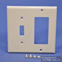 Leviton Light Almond Thermoplastic Combination Switch Plate Decora GFCI Cover Nylon Wallplate GFI 80707-T