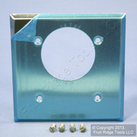 """Leviton Stainless Steel 2.15"""" Offset Outlet Cover Receptacle Wallplate Oven Range Dryer Welder 84022"""