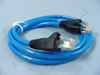 Leviton Blue Cat 5e 3 Ft Ethernet LAN Patch Cord Network Cable Booted Cat5e 5G455-3L