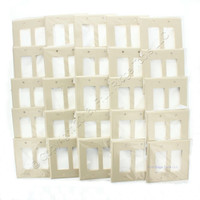 25 Leviton Ivory 2-Gang Decora UNBREAKABLE MIDWAY Wallplates Thermoplastic GFI GFCI Covers PJ262-I