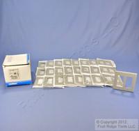 25 Leviton Gray Decora 2-Gang Standard Wallplate GFCI GFI Smooth Covers 80409-GY