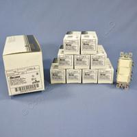 10 Leviton Almond Decora Triple Rocker Wall Light Switches Triplex 15A 1755-A