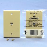 2 Leviton Ivory Standard Telephone 3-LINE Wall Jack Cover Plates 6P6C 4625B-46I