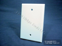 New Leviton White 1-Gang Blank MIDWAY Box Mount Plastic Wallplate Cover 80514-W