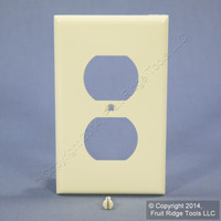 Leviton UNBREAKABLE Almond Receptacle Wallplate Nylon Duplex Outlet Cover 80703-A