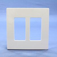 Leviton White 2-Gang Midway Size Decora Screwless Wallplate Cover GFCI GFI SJ262-SW