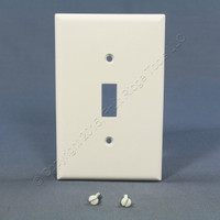 Eagle White Thermoset Mid-Size 1-Gang Toggle Switch Cover Wallplate Switchplate 2034W