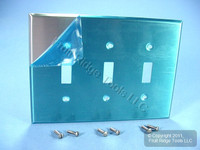 Leviton Non-Magnetic Stainless Steel MIDWAY 3-Gang Switch Cover Wallplate SSJ3-40