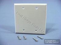 25 Leviton White 2-Gang Blank Cover Wallplate Box Mount 88025
