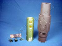 Leviton Brown ECT 17 Series Female Cam Plug Double Set Screw 690A 600V 17D24-H