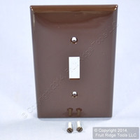 Leviton Brown UNBREAKABLE Midway Switch Cover Wallplate Thermoplastic Nylon Switchplate PJ1