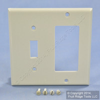 Leviton Gray Decora GFCI Switch Cover Receptacle Wall Plate Switchplate 80405-GY