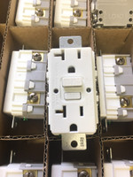 10 Hubbell White Commercial Weather Resistant GFCI Outlets NO EARS 20A GFWRST20W