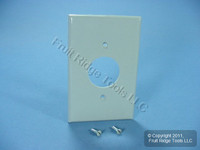 """Leviton Gray 1.406"""" MIDWAY UNBREAKABLE Receptacle Wallplate Outlet Cover PJ7-GY"""