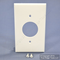 """Leviton White 1.406"""" UNBREAKABLE Receptacle Wallplate Outlet Nylon Cover 80704-W"""