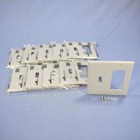 10 Leviton Gray Thermoplastic Combination Switch Plates Decorator GFCI GFI Cover Nylon Wallplates 5153GY
