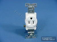 Cooper White COMMERCIAL Straight Blade Single Receptacle Outlet 5-15R 15A 817W