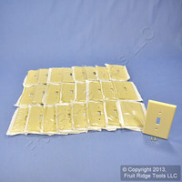 25 Leviton Ivory MIDWAY Toggle Switch Cover Wallplate 1-Gang Plastic Switchplates 80501-I