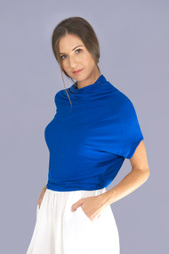 Marine Tidal Draped Top