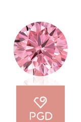 Pure Grown Diamond   .71 Carat VVS2 Fancy Intense Pink