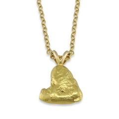 2.20 DWT Natural Gold Nugget Pendant With 14 Karat yellow Gold Bail with Display Chain