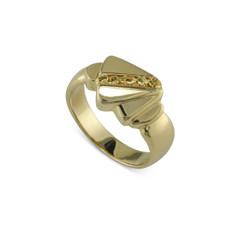 14 Karat Yellow Natural Gold Nugget Ring Size  9.75