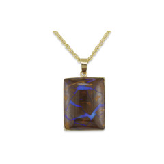 30.63ct Boulder opal with 14kty Bezel and 14kty Bail