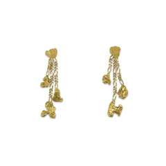 ALASKA GOLD NUGGET DANGLE EARRINGS