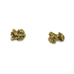 1.9 DWT ALASKA GOLD NUGGET EARRINGS