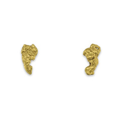 1.0 DWT ALASKA GOLD NUGGET EARRINGS