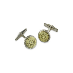 925 Silver Rope Braid 44 Mag Cufflinks.