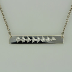 Sterling Silver Echo Bar Necklace
