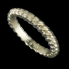 14 Karat White Gold Leaf Stack-able Ring Size 6.25