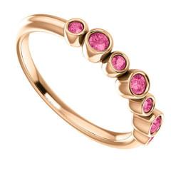 14 Karat Rose Gold Pink Tourmaline Ring Size 7
