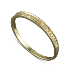 14 Karat Yellow Gold .045 CTW Diamond Ring Size 6.75