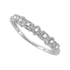 14 Karat White Gold .04 CTW Diamond Ring Size 6.25