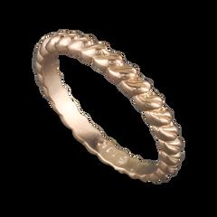 14 Karat Rose Gold Leaf Stack-able Ring Size 6.25