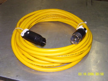 6450-480Y-HB 50 ft 50A 480V 3 PHASE YELLOW POWER CORD w/ CS8164 & CS8165 Hubbell Ends
