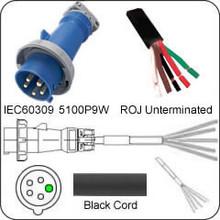 HBL5100P9W Hubbell 100A 120/208V Male Plug