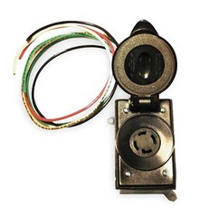 SR30 30A 125/250V WALL MOUNT OR PIPE MOUNT RECEPTACLE - PREWIRED