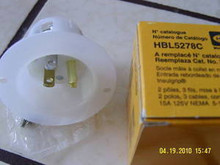 HBL5278C 15A 125V MALE EDISON INLET   { HUBBELL }
