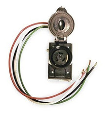 SR50 50A 125/250V WALL MOUNT OR PIPE MOUNT RECEPTACLE - PRE-WIRED