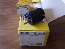 Hubbell 5266CBK, HBL5266CM2 15A 125V U/G EDISON MALE PLUG BOX OF 10