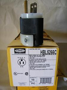 Hubbell HBL5266C  15A 125V U/GROUND PLUG