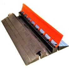 "EG1300-36 Elasco Guards 1 Channel 3"" Heavy Duty Cable Guard, Orange/Black"