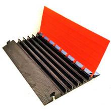 "EG5200-36 Elasco Guards 5 Channel 2"" Heavy Duty Cable Guard, Orange/Black"